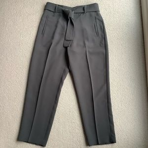 Wilfred Grey Charcoal Tie-Front Pants High Waisted